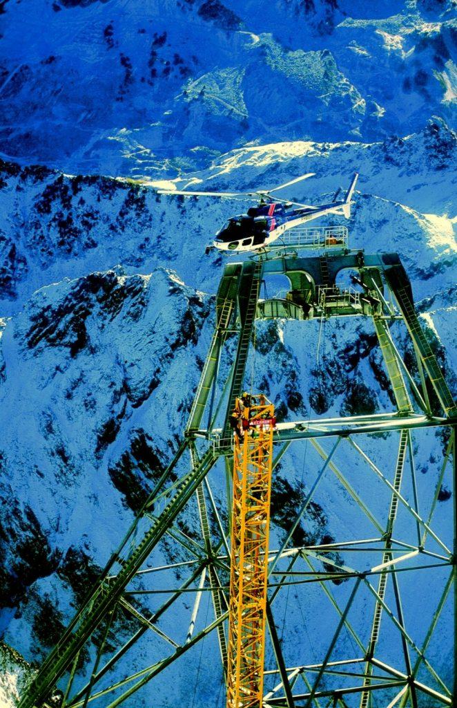 Mécamont-Hydro intervient sur le pylône du Pic du Midi