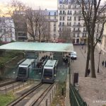 Le funiculaire de Montmartre en fonctionnement