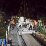 chassis du funiculaire de Montmartre enlevé depuis la rampe