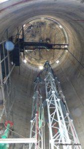 chateau d'eau Mécamont-Hydro pour l'entrainement des cordistes Face Verticale
