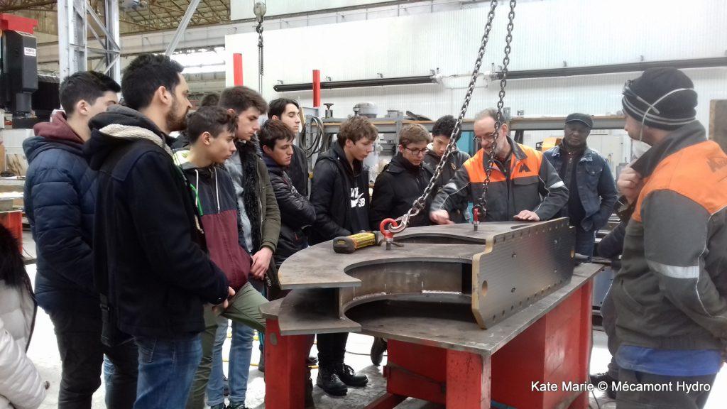 Les élèves du lycée Victor Duruy lors de la Semaine de l'industrie chez Mecamont Hydro à Lannemezan