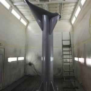 Traitement de galvanisation pour le poteau destiné à recevoir l'Alphajet