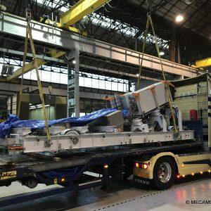 Le chassis du funiculaire de Montmartre va rejoindre Paris