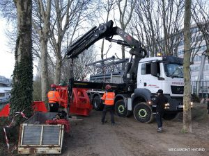 téléphérique de chantier mecamont hydro à Clichy la Garenne