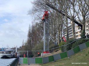 chantier téléphérique de chantier mecamont hydro à Clichy la Garenne